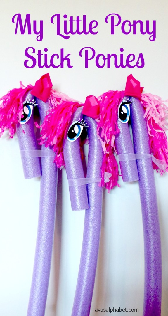 My Little Pony Inspired Stick Ponies from Ava's Alphabet