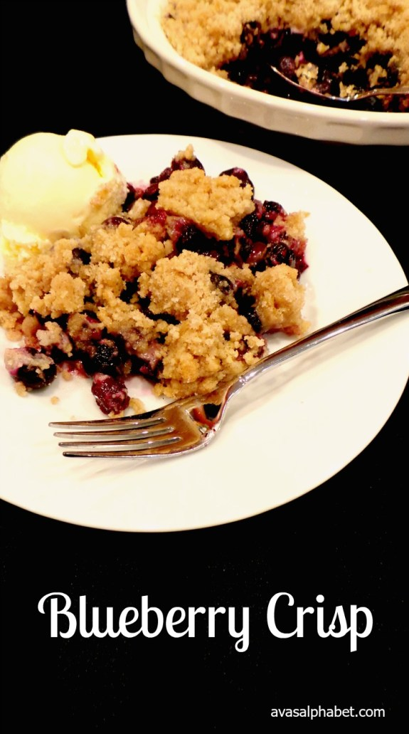 Blueberry Crisp from Ava's Alphabet