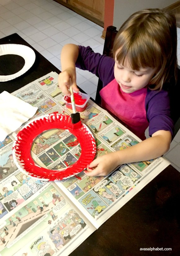 Paper Plate Apple and Pumpkin Masks