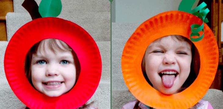 Paper Plate Pumpkin and Apple Masks  sc 1 st  Ava\u0027s Alphabet & Paper Plate Pumpkin and Apple Masks - Ava\u0027s Alphabet