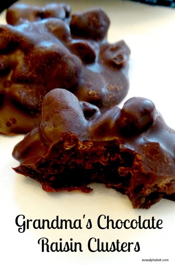 Grandma's Chocolate Raisin Clusters