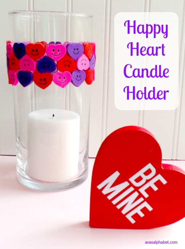 Happy Heart Candle Holder - Ava's Alphabet