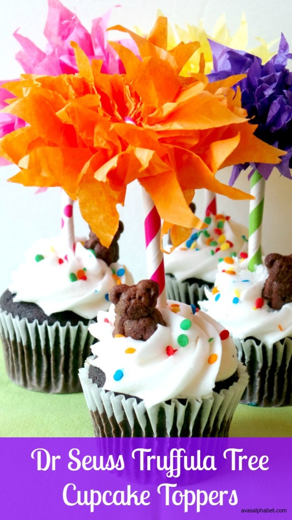 Dr Seuss Truffula Tree Cupcake Toppers by Avas Alphabet