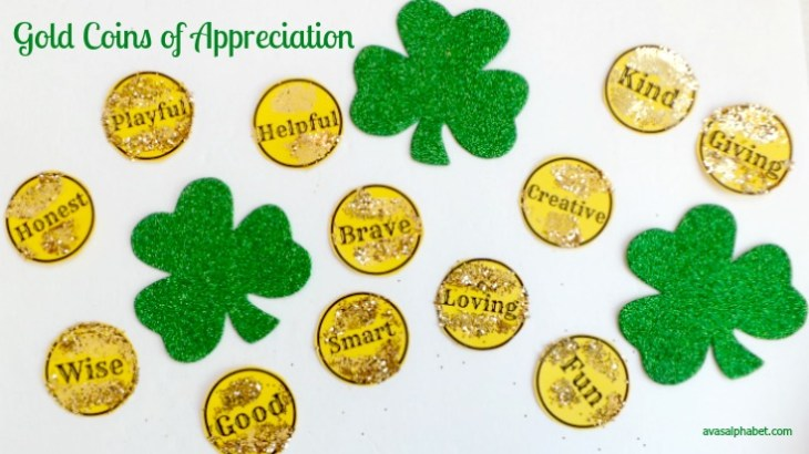 Gold Coins of Appreciation for Kids from Ava's Alphabet