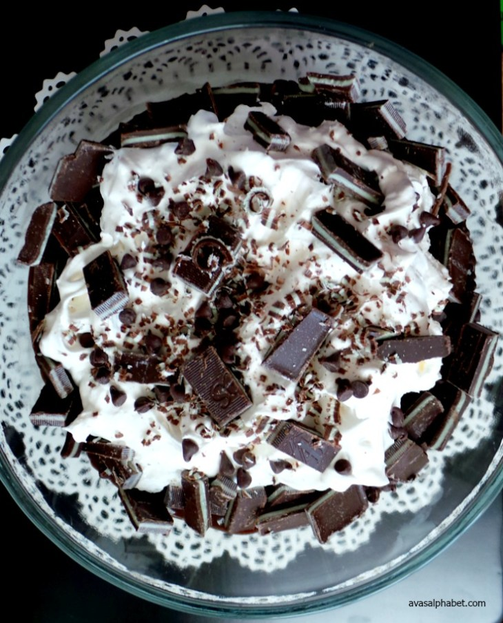 Chocolate Mint Brownie Trifle from Ava's Alphabet