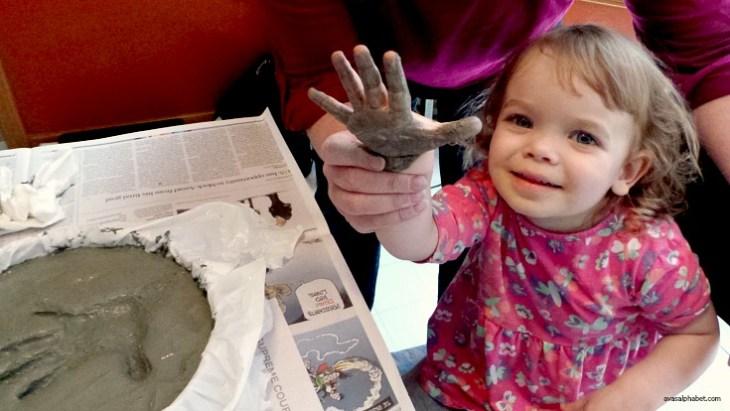 Homemade Handprint Garden Stones from Ava's Alphabet