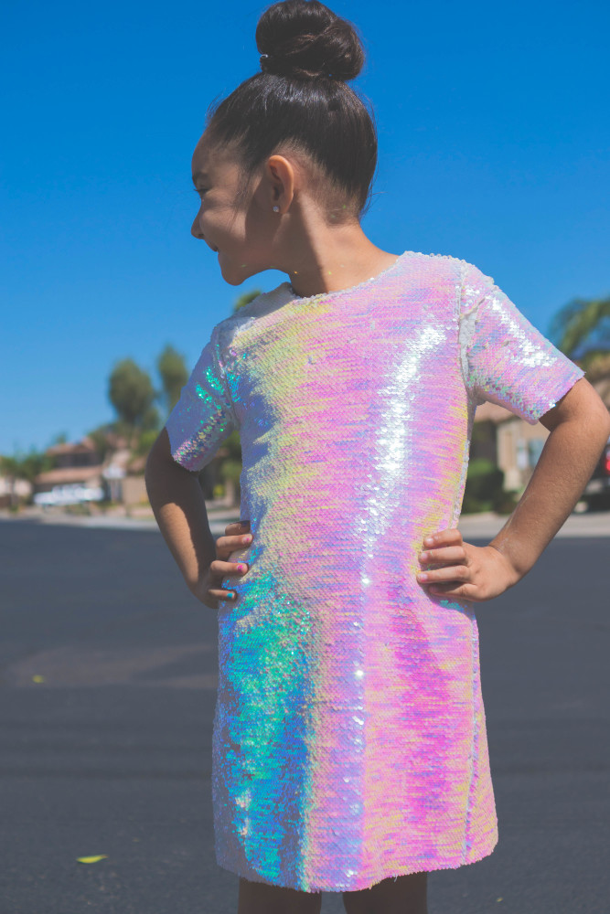 Iridescent Sequin Party Dress