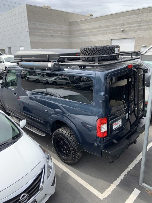 Nissan NV3500 roof rack and rear ladder from Avatar