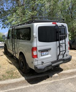 2019 Nissan NV3500 Avatar roof rack with rear and side ladders