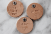 Custom Round Leather Tag 1