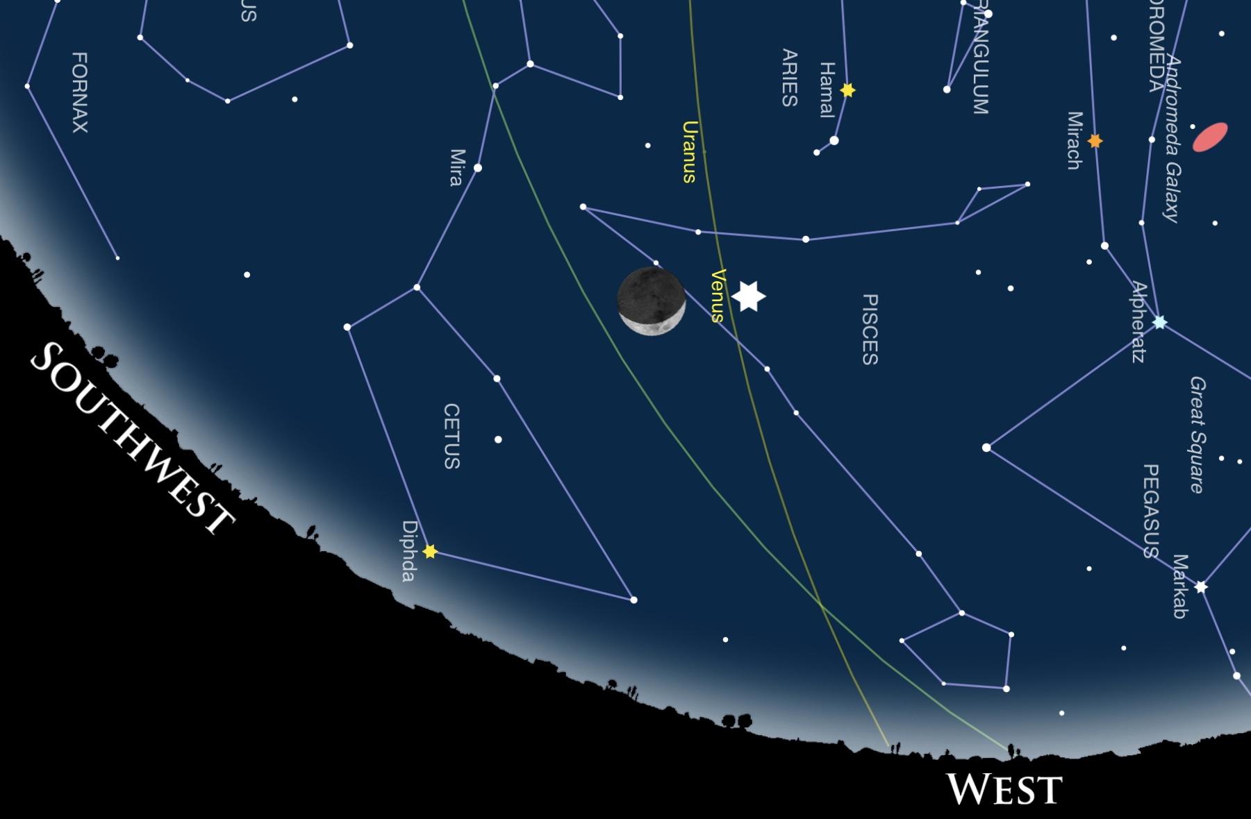 Congiunzione Luna Venere 27 febbraio 2020