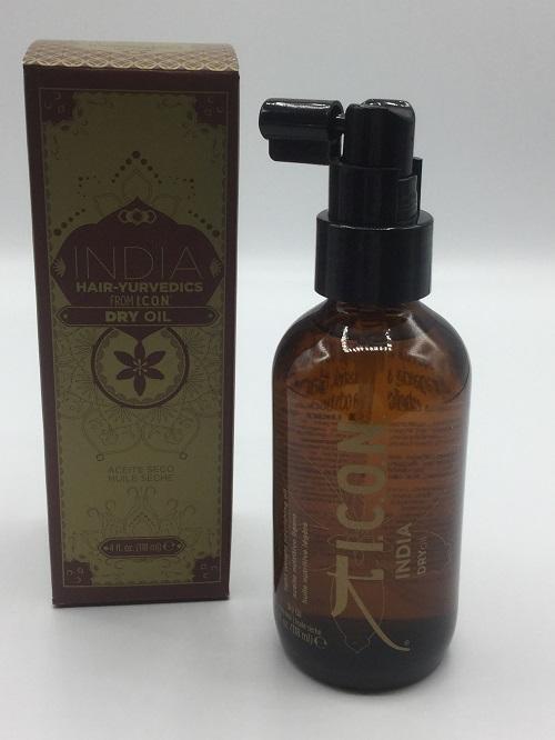 ICON INDIA dry oil envase y caja