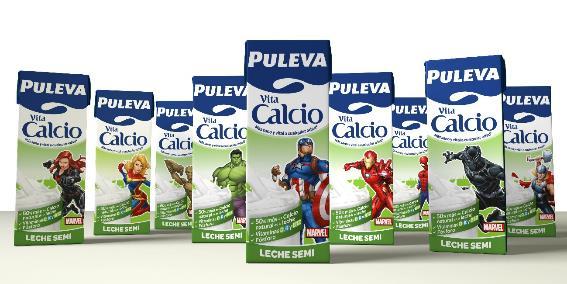 Envases de Puleva Vita Calcio Marvel Edition