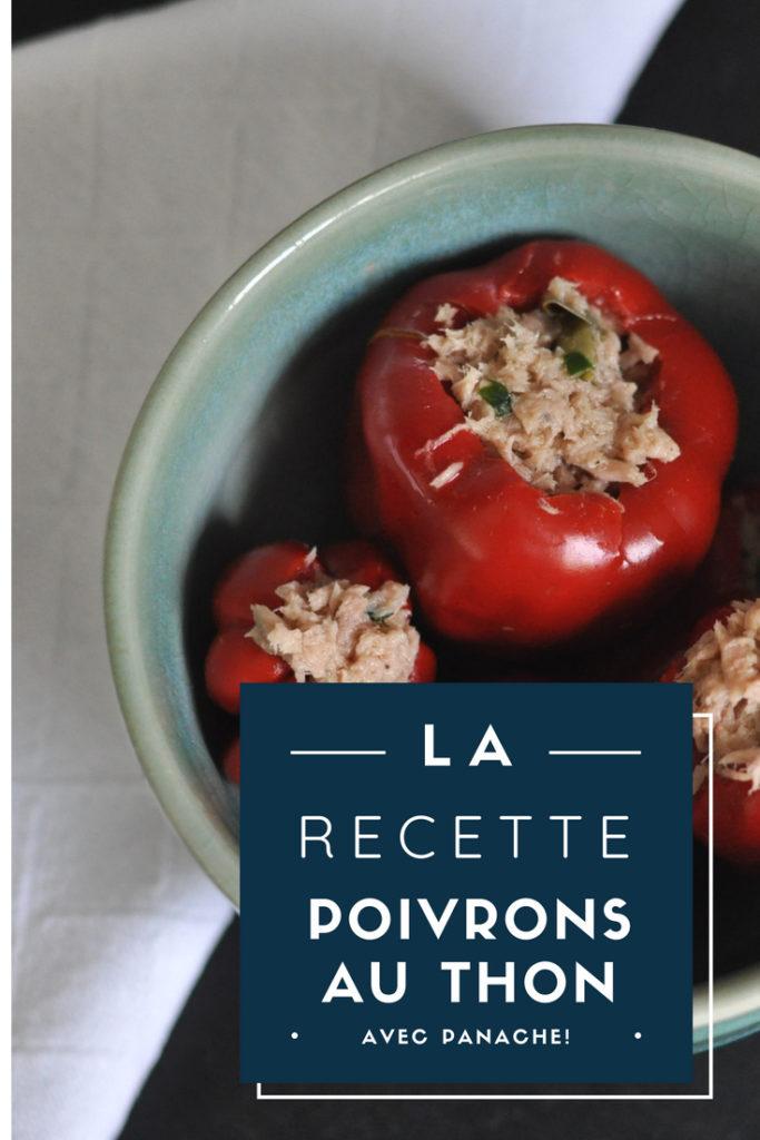 """Billet """"Petits poivrons farcis au thon"""" paru sur www.avecpanache.ch"""