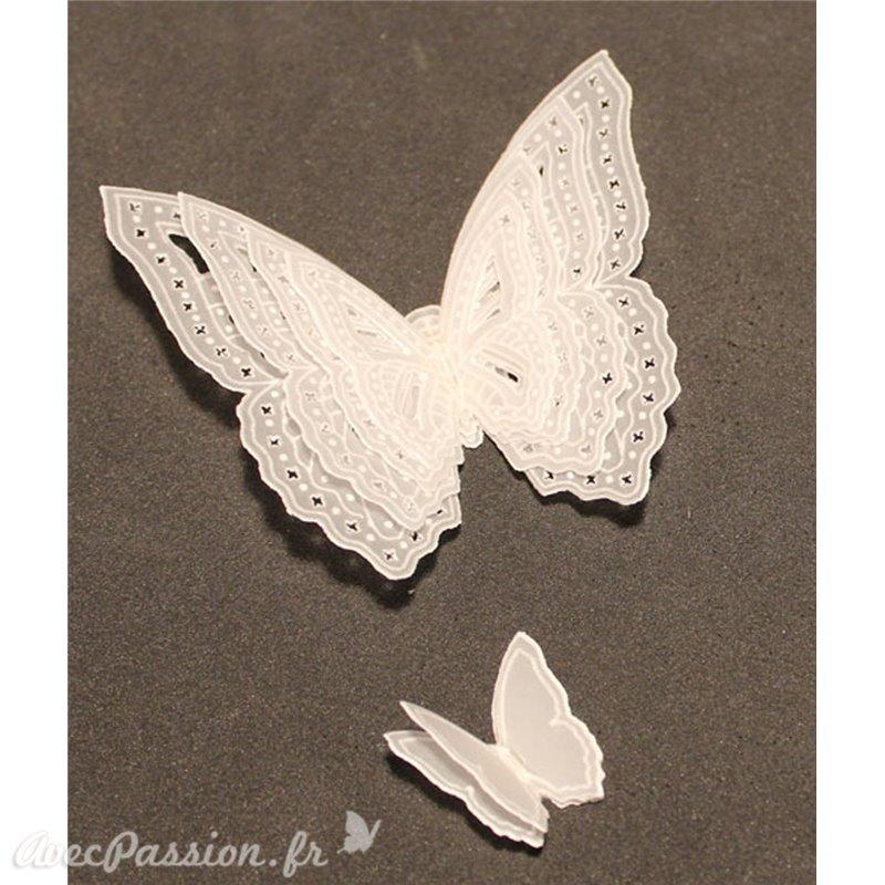 papier parchemin motif papillon 3d