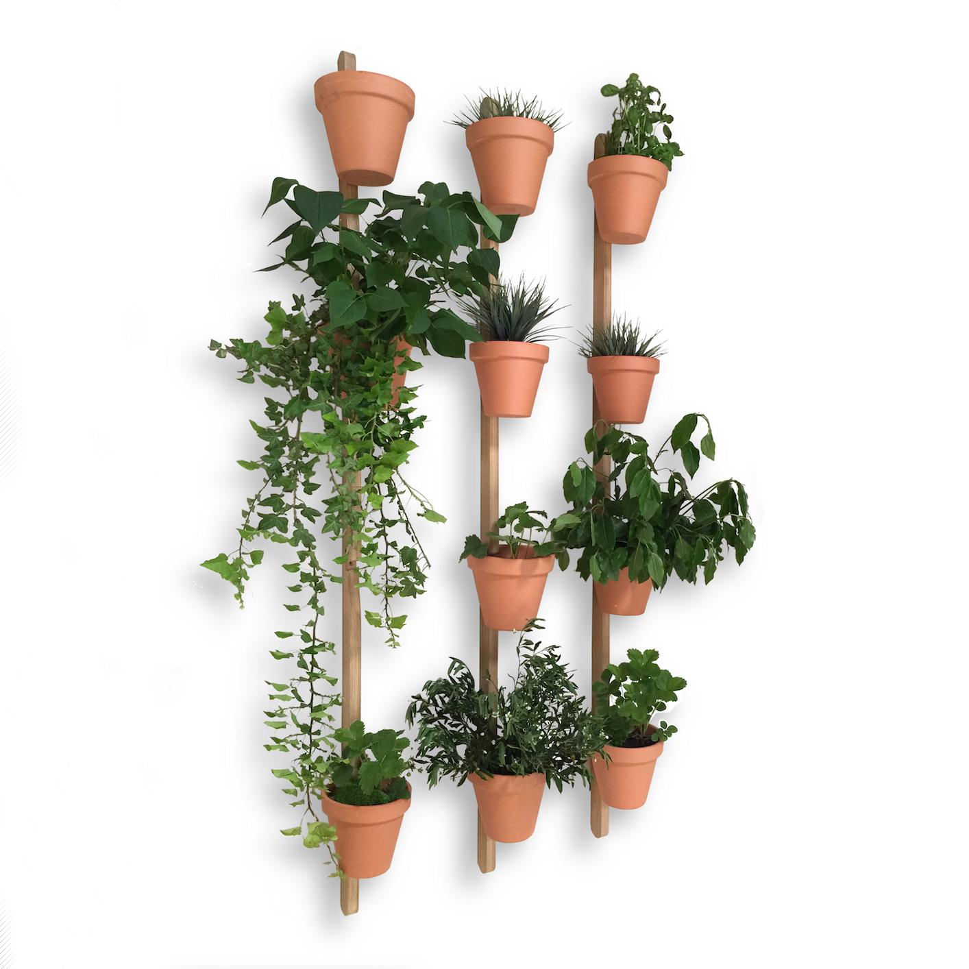 3 support mural xpot pour 4 pots ou etageres de fleurs h 200 cm