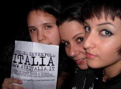 a7x italia party zoe milano 2007