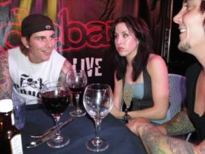 Dinner with fans at The Slidebar 2008