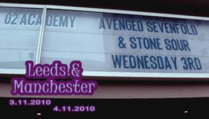 Fans in Tour: Leeds & Manchester 03/04-11-2010