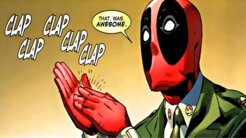 deadpool clap