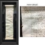 custom framing calgary antique scroll paper
