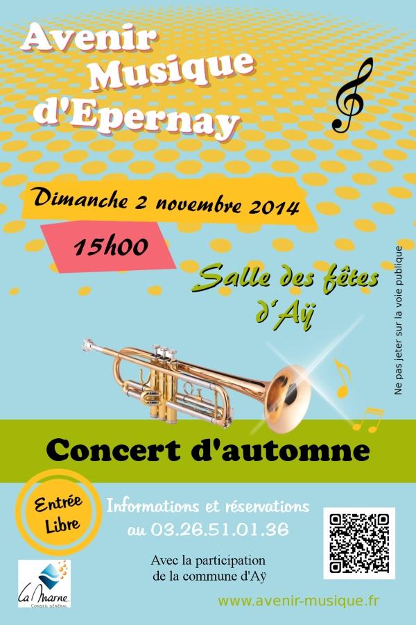 Concert d'automne de l'Avenir Musique - 2 novembre 2014 à Ay