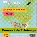Concert de printemps de l'Avenir Musique - 19 avril 2015 à 15h30