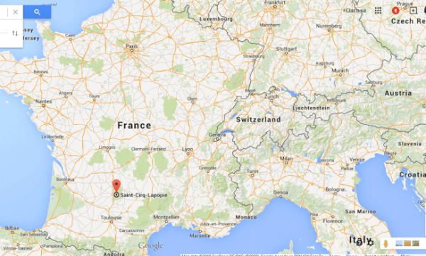 Map of small towns in France