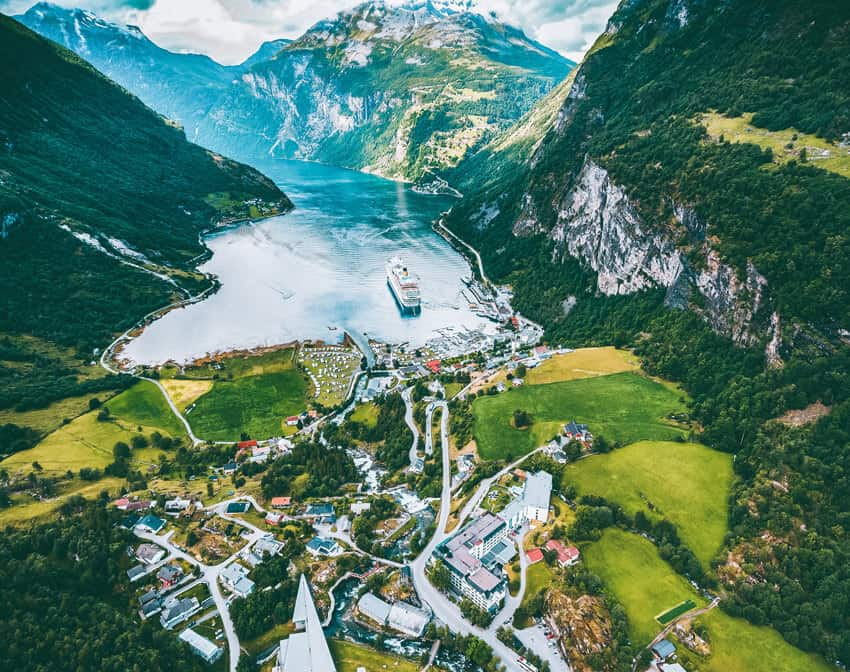 The famous Geiranger Fjord