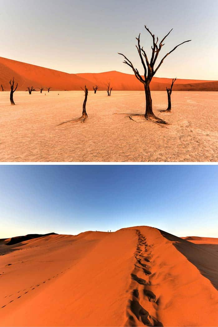 Deadvlei, Namibia! 20 UNREAL Travel Destinations you have to see!! Click through to read the full post!