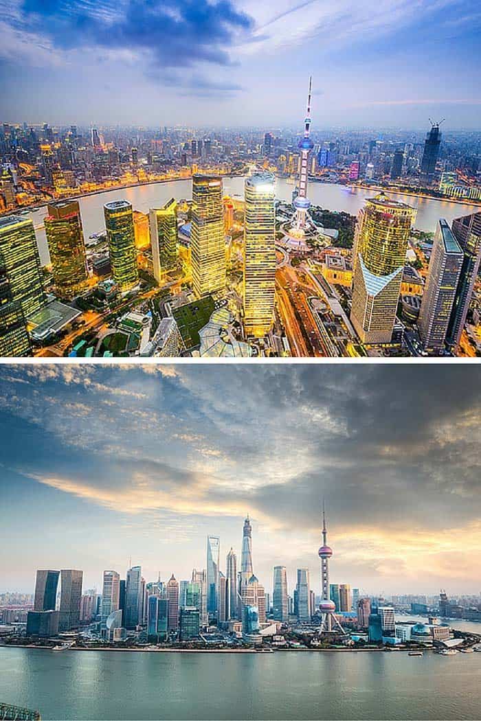 The Shanghai skyline you see today did not exist 30 years ago. Shanghai used to be a small fishing village, but over the last 30 years it has literally sprouted out of almost nothing. This skyline is my absolute favorite! Click through to see 18 of the BEST skylines in the world!