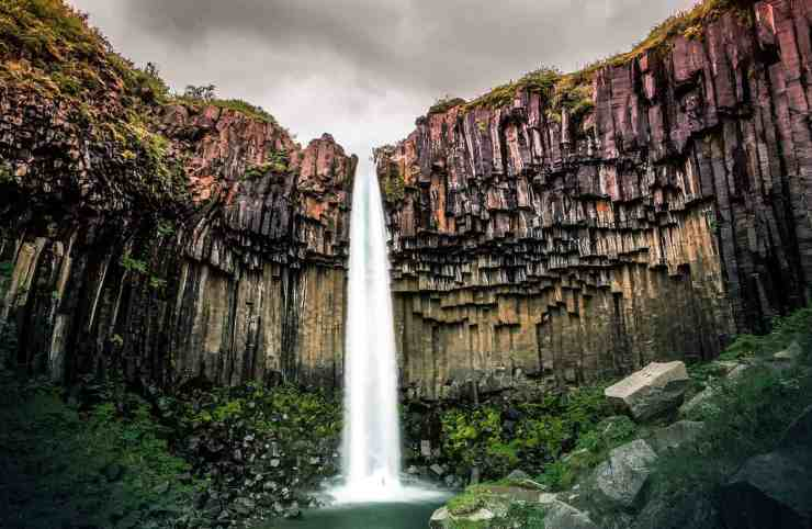 Svartifoss waterfall in Iceland! See the 15 best waterfalls in Iceland!