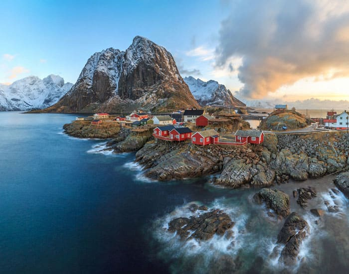 Fishing village of Reine in the Lofoten Islands.