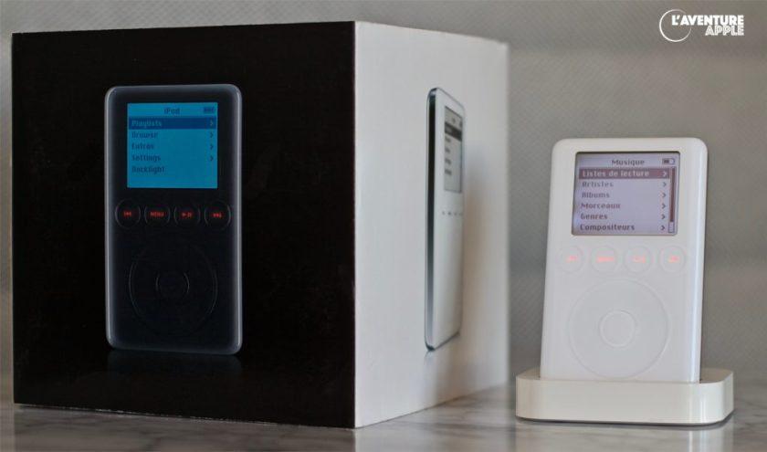 L'iPod 3G, et sa boîte
