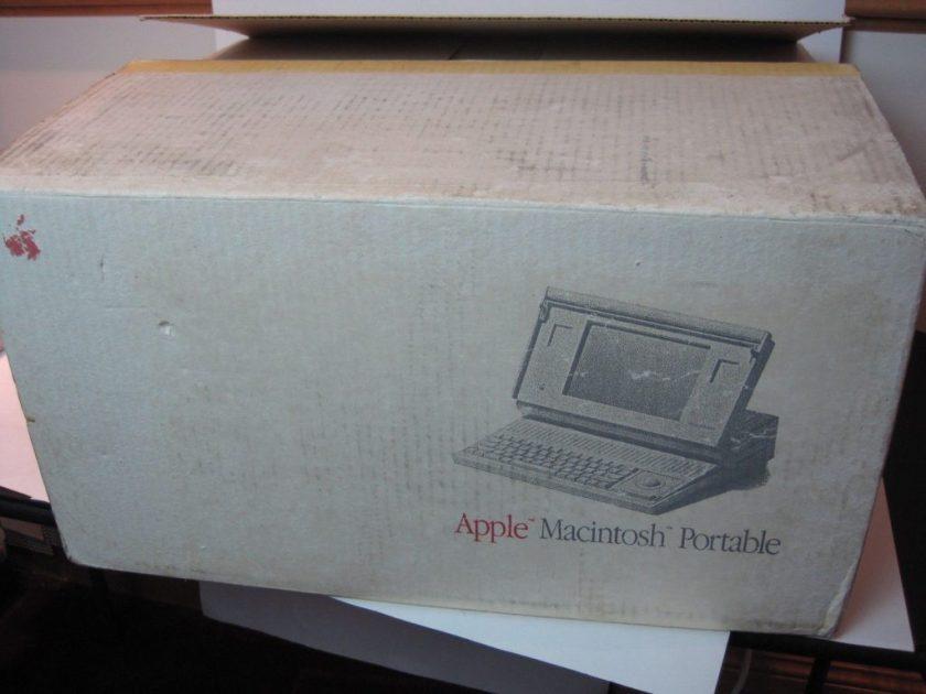 Carton du Macintosh Portable sur rBay