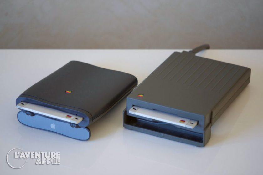 Lecteur de disquettes Apple HDI-20 et lecteur du PowerBook 2400c