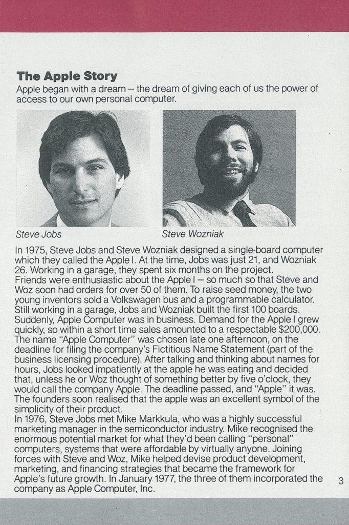 Historique Apple 1984