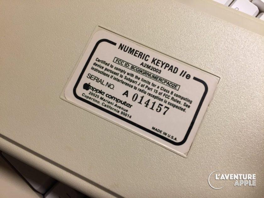 Apple II numeric keypad