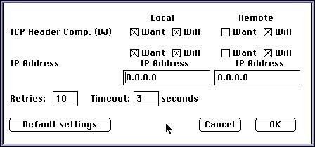 Mac PPP, TCP/IP et compagnie