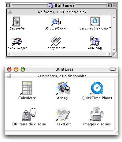 Mac OS 9 et MacOS X Les utilitaires