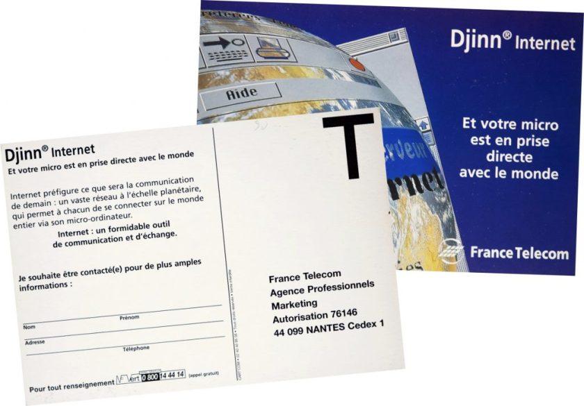 Carte postale Djinn France Telecom