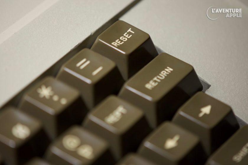 Apple II europlus touche reset