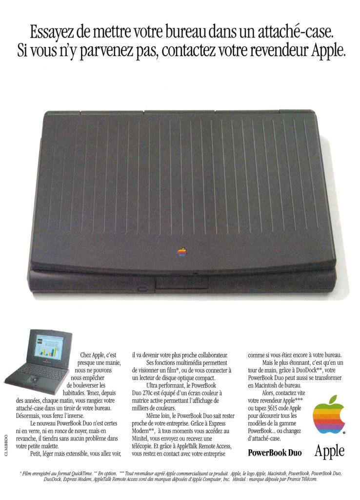 Apple Publicité PowerBook Duo 270c