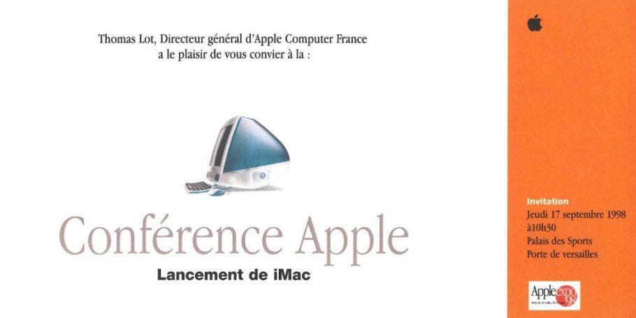 Invitation Apple Expo 1998 iMac