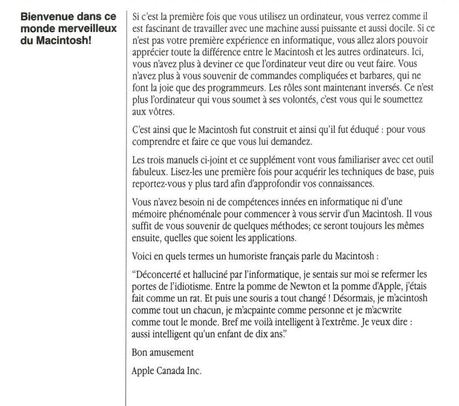 Macintosh user manual Apple Canada Audiard