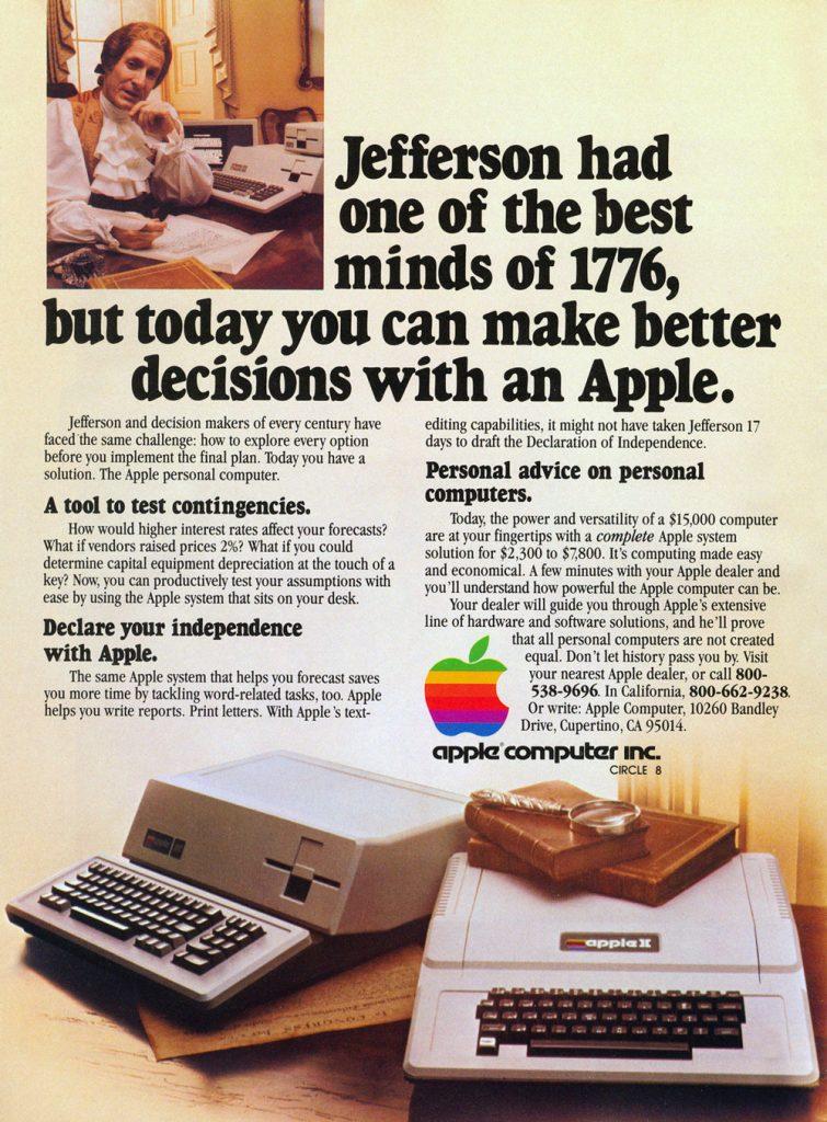 Apple 1981 ad : Thomas Jeferson