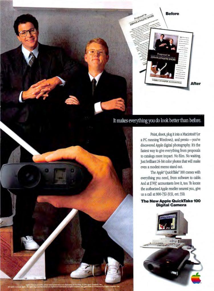 Apple QuickTake ad 1994