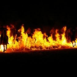 Le passage des chevaux dans le feu