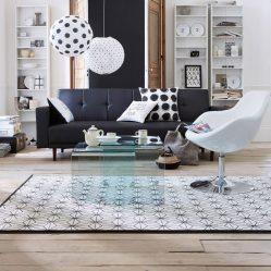 tapis-graphique-noir-et-blanc-scandinave-aventuredeco
