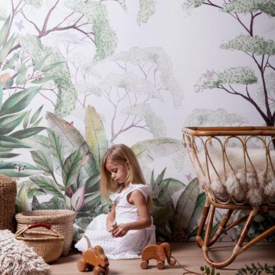 Papier peint Foret Jungle pour chambre d'enfant